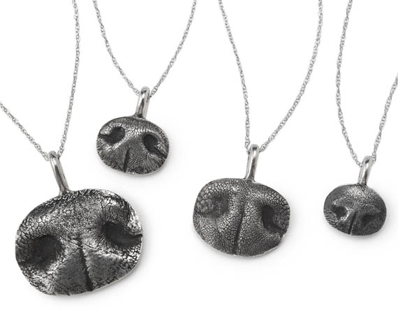 Custom Pet Nose Necklaces  Are Cute, Not Wet