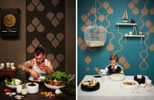 DIY Decor With Stick and Peel Wallpaper