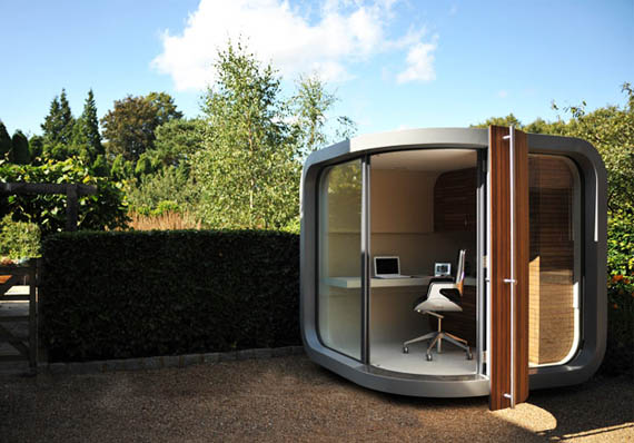 Backyard Office Pod Cuts Down Your Commute Time