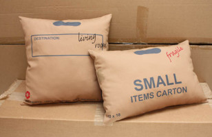 Carton Pillows Provides A Moved-In Look