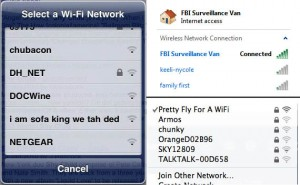 Pretty Fly For A WiFi And Other Ridiculous Names for Wi-Fi Networks