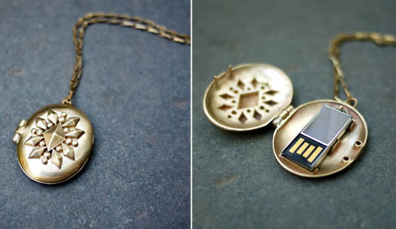 Forget Geek, The USB Locket Is For The Computer Obsessed