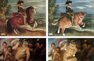 Classic Paintings Get Invaded by Cats