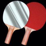 Ping Pong Paddle Hand Mirror
