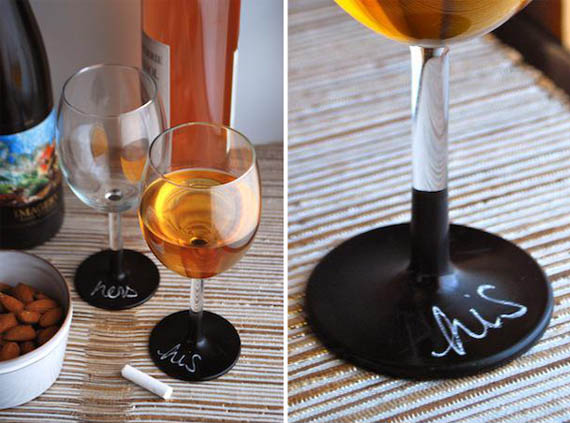 DIY Chalkboard Wine Glasses Are Much Classier Than Sharpie Solo Cups