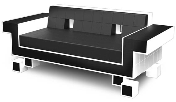 this retro couch invades your living space incredible things. Black Bedroom Furniture Sets. Home Design Ideas