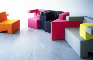 Modular Seating That Encourages People To Gather And Play Tetris