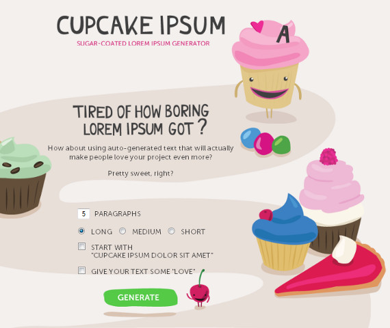 Cupcake Ipsum: Filler Text That I Want To Eat