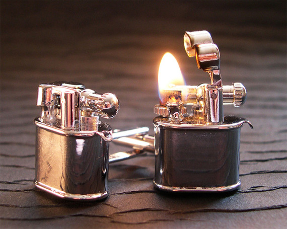 Working Lighter Cufflinks