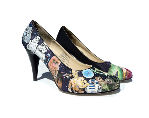 Custom Hand-Painted Star Wars Heels