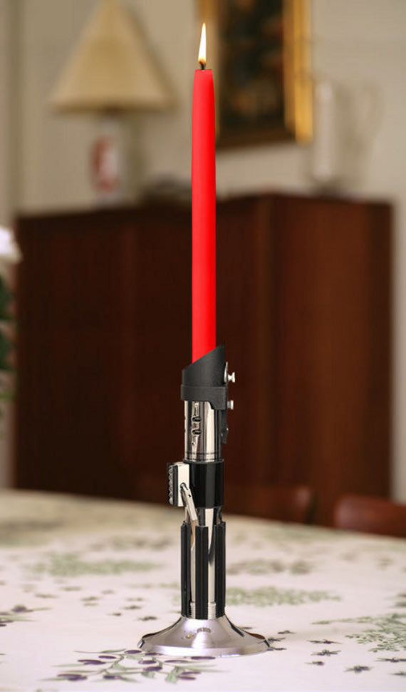 Did It Just Get Real Sexy In Here Or Is That Just Me?: Star Wars Lightsaber Candlestick