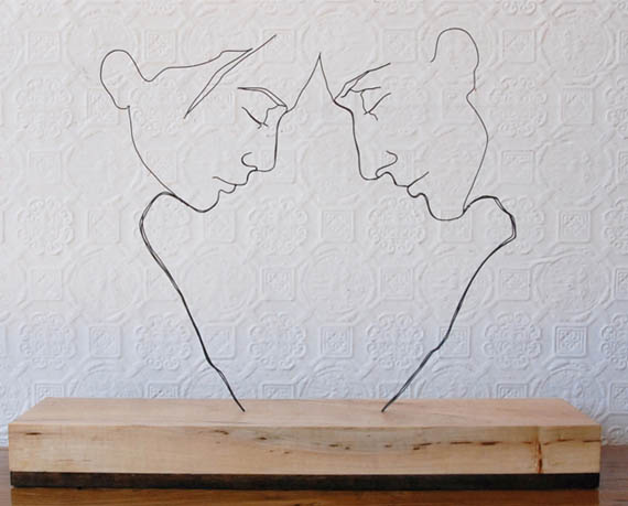 Contour Line Drawing With Wire : Art on wire incredible things