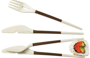 Fork-Knife Chopsticks Let You Fake It Until You Make It
