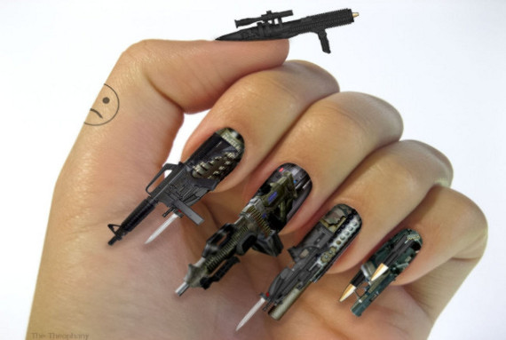 Gun Finger Nails