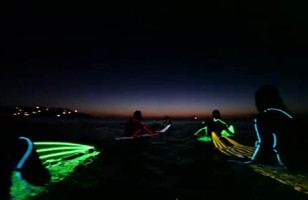 Night Surfing At The Beach: Much Cooler Than On the Couch