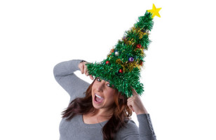Tis The Season To Be Gaudy: Xmas Tree Hat