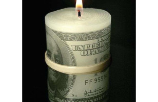 Wait, Give It To Me! Money To Burn Candle