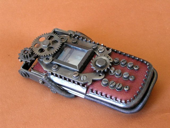 Functional Steampunk'd Cell Phones