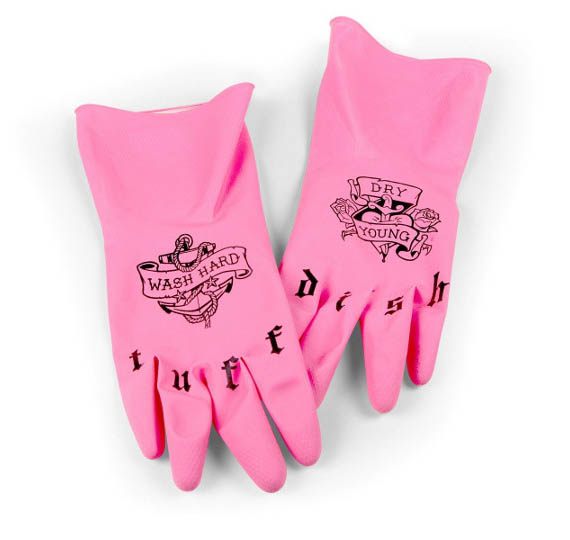 Tuff Dish Tattoo Kitchen Gloves