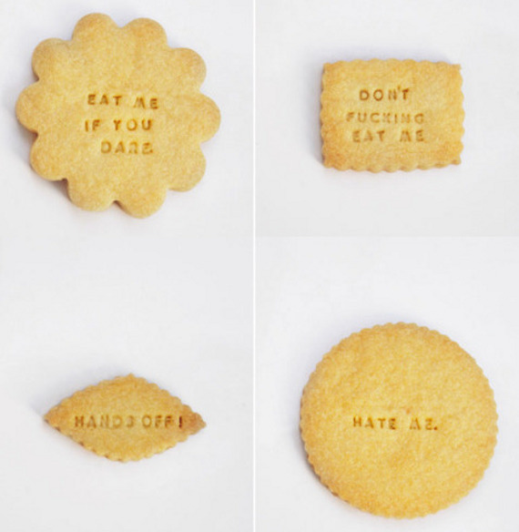 Rude Messaged Diet Cookies