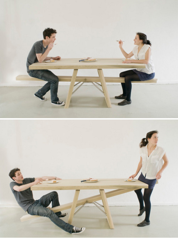 Playing With Your Food: See-Saw Table