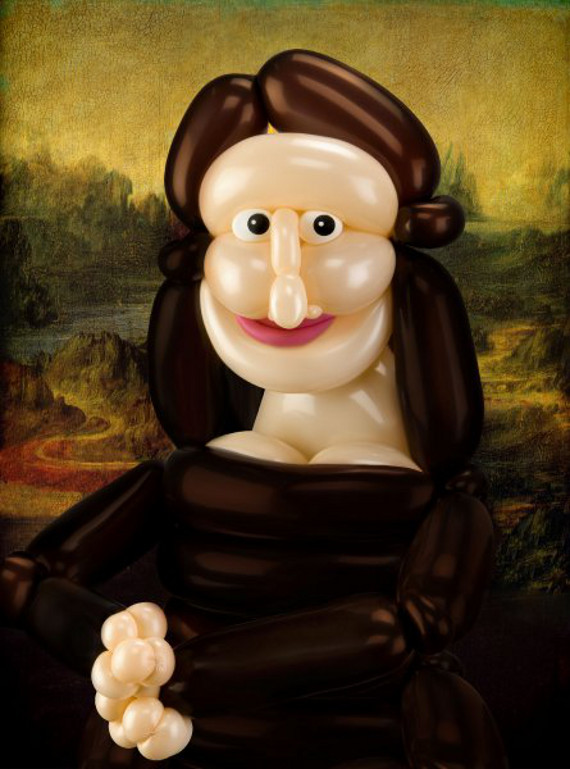Famous Art Recreated With Balloons