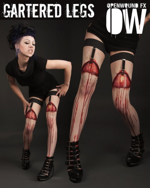 Bloody Gartered Legs Prosthetics