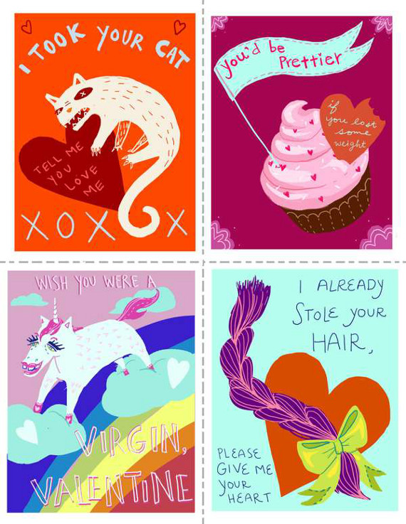image relating to Funny Printable Valentines identified as My Inner thoughts, Theyre Harm: Negative Valentines Outstanding Components