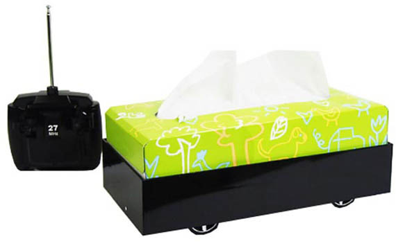 This Tissue Box Drives Faster Than Your Nose Runs