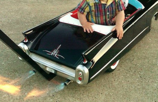 Baby Stroller Cadillac With Real Flames