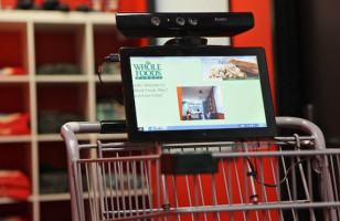 The Kinect Shopping Cart Follows You Around The Store