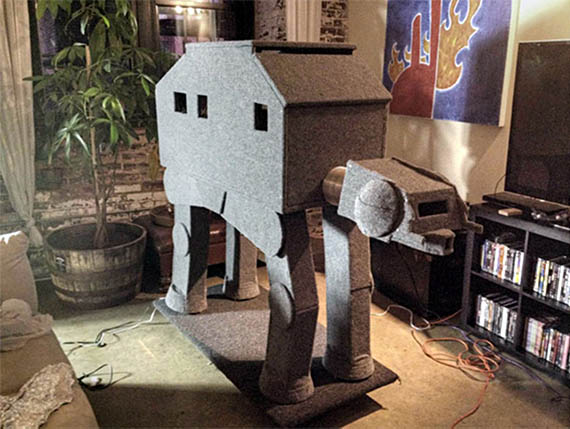 May The Fur Be With You: AT-AT Cat Condo