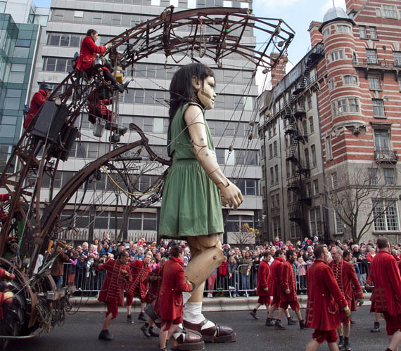 Giant Marionettes Perform in Titanic Commemoration