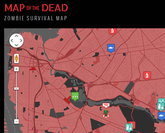 Map Of The Dead Map of the Dead: Zombie Survival Map | Incredible Things