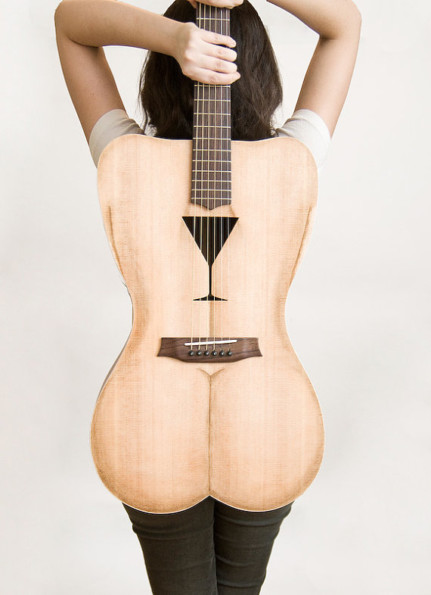 The Female Form Shaped Guitar