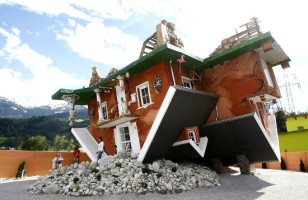 Nauseating Upside Down House