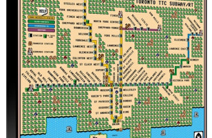 Mario Meets Metro: Super Mario 3 Toronto TTC Subway Map