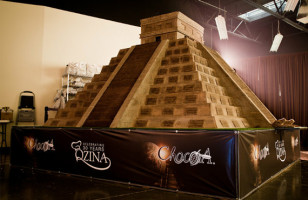 Chocapocalypse: Giant Mayan Temple Made of Chocolate