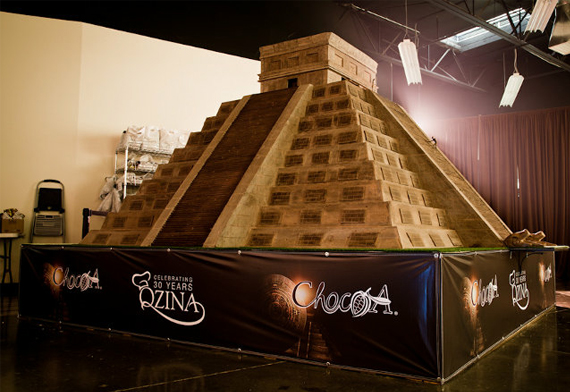 Chocapocalypse: Giant Mayan Temple Made of Chocolate ...