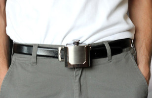 Get Sloshed In Style: A Belt Buckle Flask