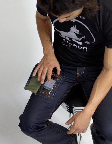 Jeans With See-Through iPhone Pocket