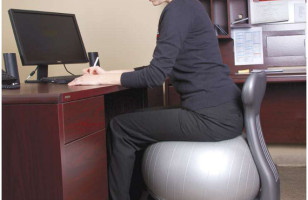 Exercise Ball Turned Office Chair