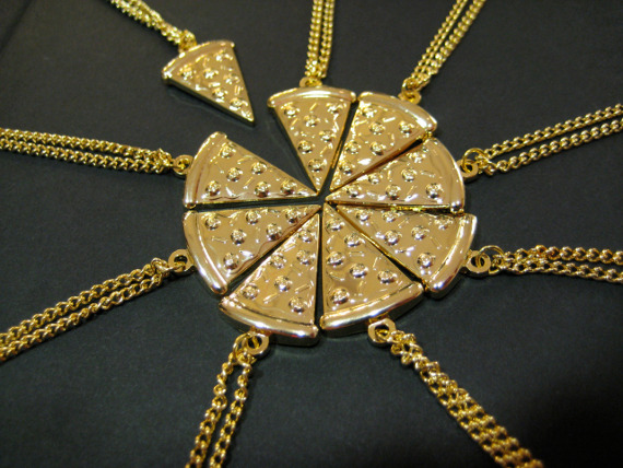For Cheesy Pals: Pizza BFF Necklaces