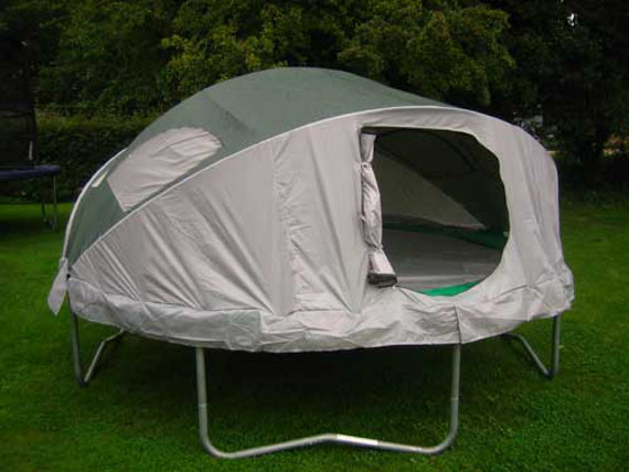 Make C&ing Fun With A Tr&oline Tent & Make Camping Fun With A Trampoline Tent | Incredible Things