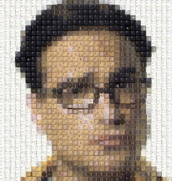 Portraits Made From Old Keyboard Keys