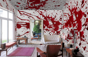 For The Wannabe Axe Murderer: Bloody Wall Paper