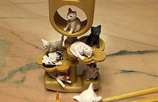 Tiny Cats Chopstick Game Fun Time Go!