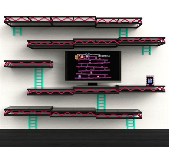 Donkey Kong Wall With Shelves