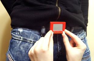 Fun Fashion: Etch-A-Sketch Belt Buckle