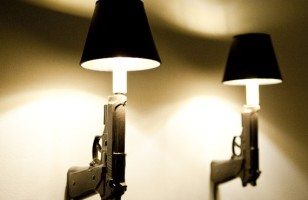 Killer Decor: 9mm Gun Wall Sconces